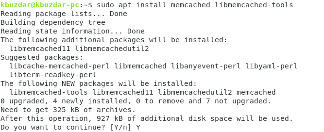 Installing Memcached
