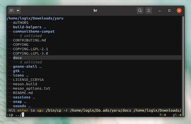 broot is a command line interactive Treeview directory navigation tool