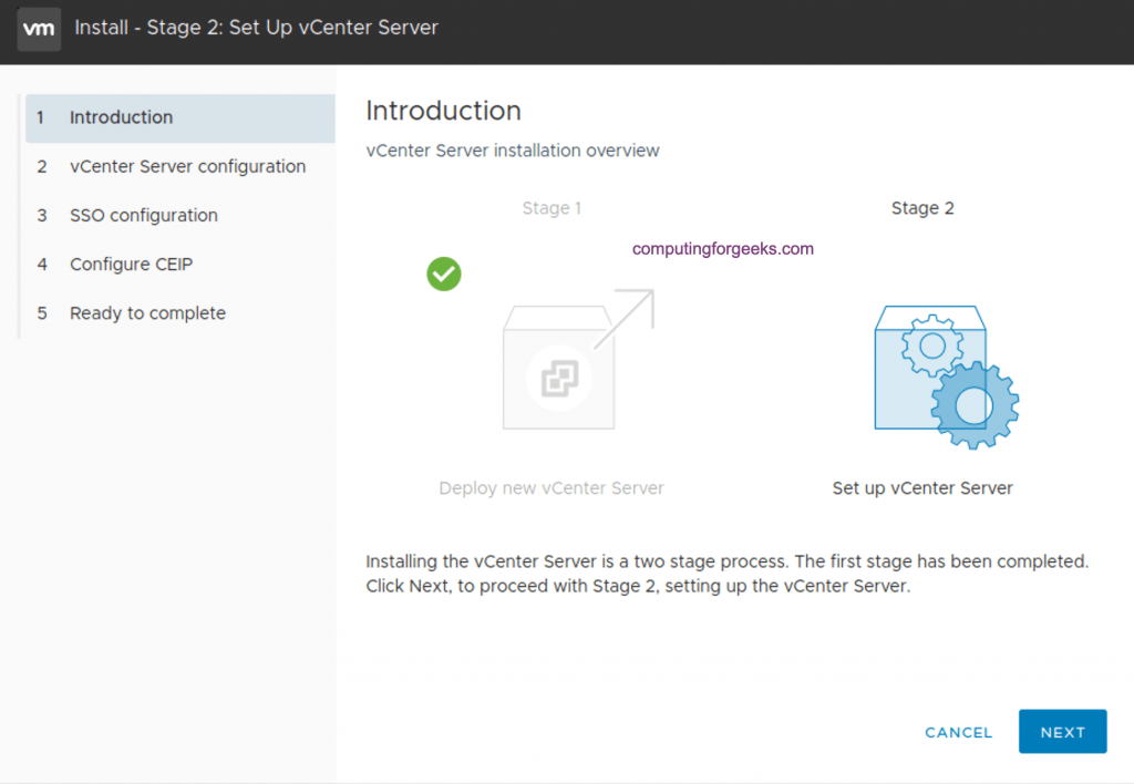How to install vCenter 7 Server Appliance on ESXi host