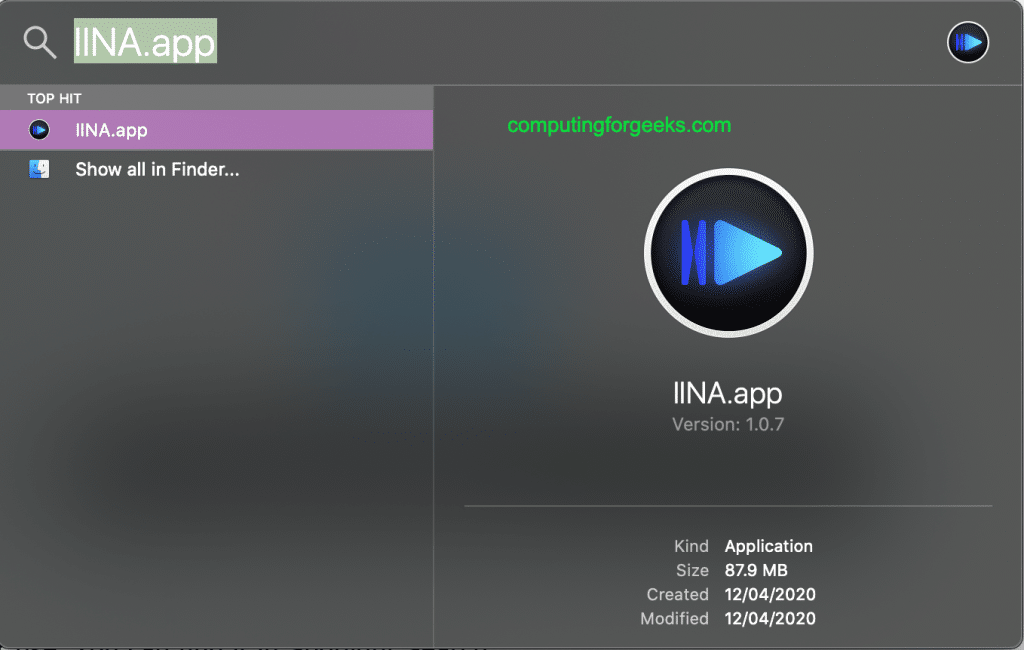 Install IINA-a modern video player for macOS