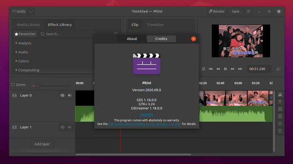 How to install Pitivi Video Editor 2020.09 on Ubuntu 20.04 with release