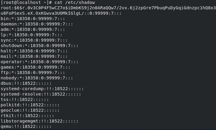 🐧 Parsing the / etc / shadow file