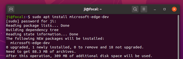 Microsoft Edge (Dev Preview) can be installed on Ubuntu