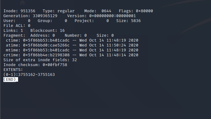 📁 How to find out the creation time of a file on Linux using Debugfs