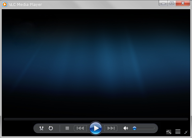 VLC Media Player in Windows Media Player theme