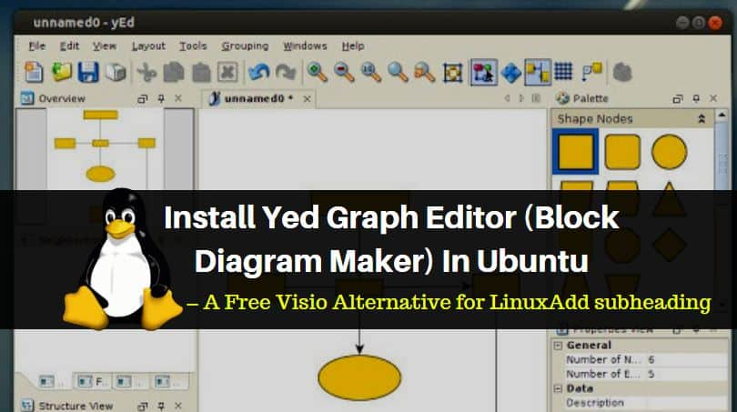 How to Install Yed Graph Editor (Block Diagram Maker) In Ubuntu – A Free Visio Alternative for Linux