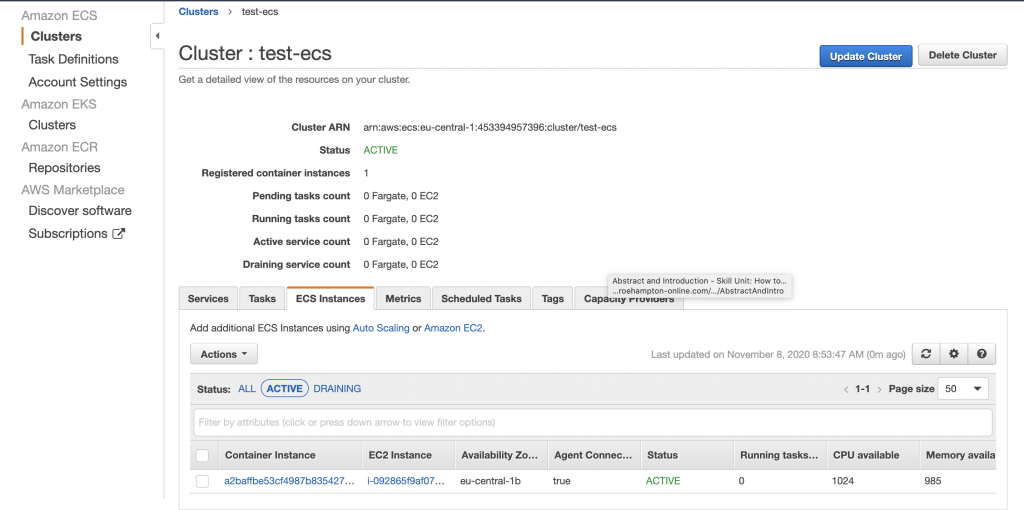Using ECS to run Docker containers on AWS-part 1