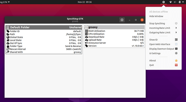[Quick Tip] How to install Syncthing-GTK on Ubuntu 20.10.