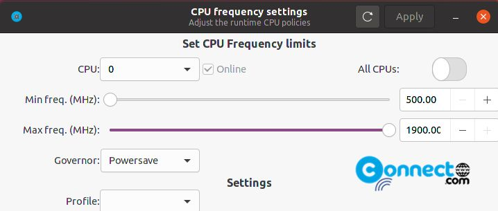 Cpupower GUI