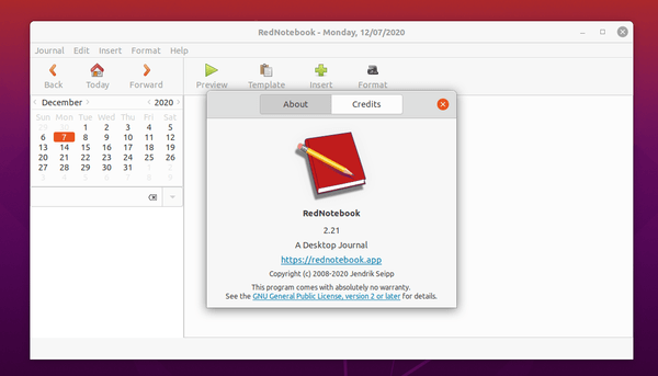 How to install RedNotebook 2.21 on Ubuntu 20.10.