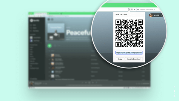 Vivaldi browser 3.5 released by sharing with QR code