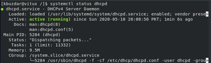 Check DHCP status