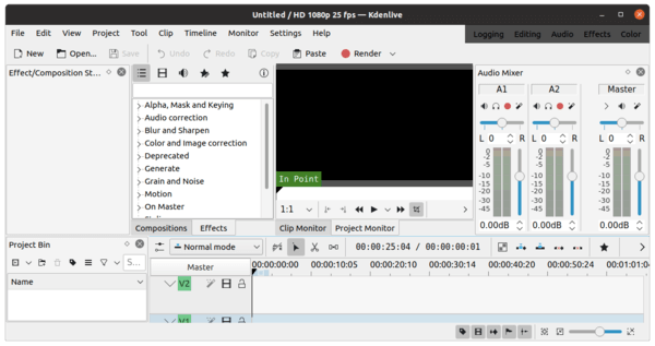 How to install Kdenlive Video Editor 20.12 on Ubuntu 20.04, 20.10.