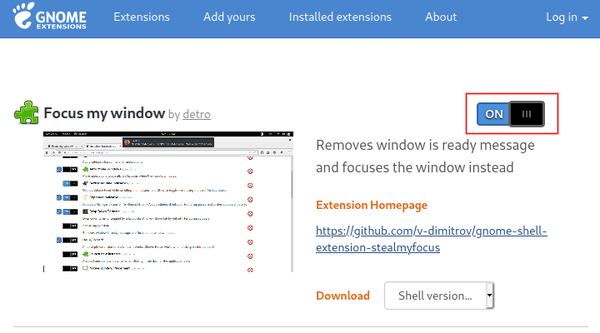"""[Quick Tip] Immediately remove the """"window ready"""" notification and focus window"""