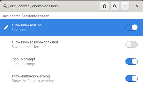 Automatically save session