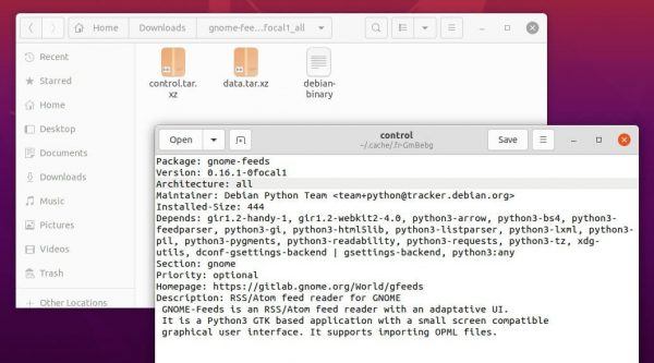 How to check software package details on Ubuntu Linux