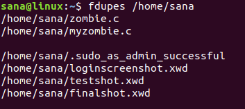 Use fdupes to scan a directory for duplicate files