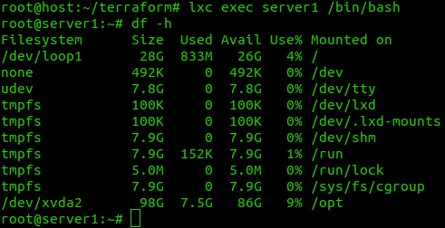 How to create an LXC container using Terraform 2