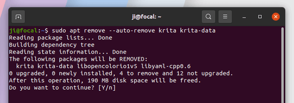 How to install Krita 4.4.2 via another PPA on Ubuntu 20.04, 20.10.