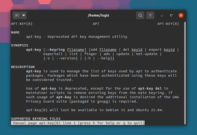 Man pages deprecated by apt-key