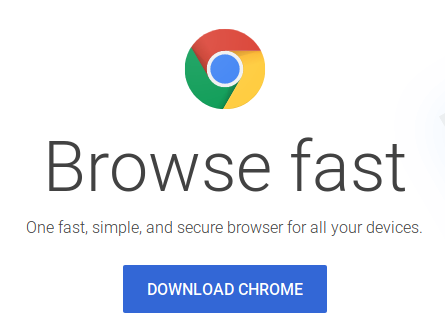 Download Chrome from Google homepage