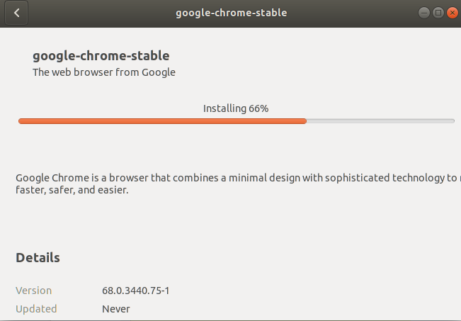 Installing the stable version of Google Chrome