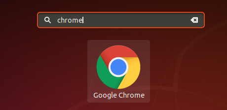 Accessing Chrome from the app menu