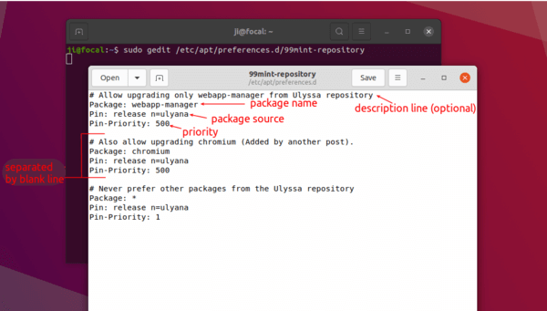 How to prioritize packages, PPA and Apt repositories on Ubuntu