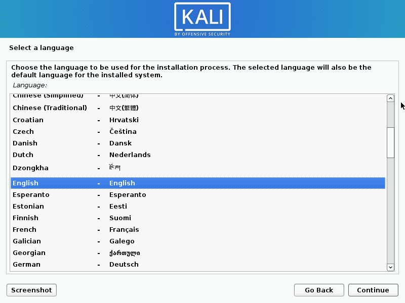 Install kali linux complete step 02
