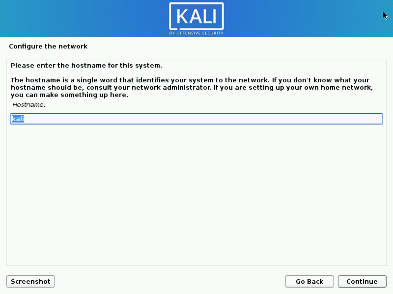 Install kali linux complete step 06