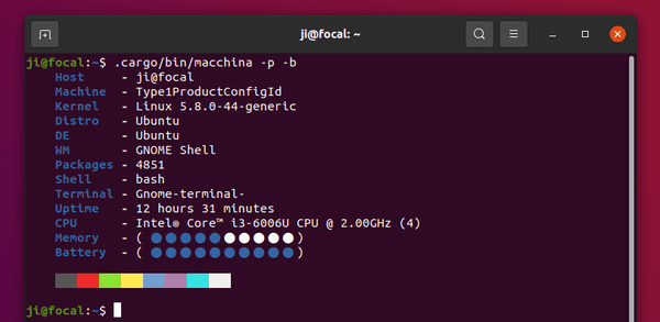 Macchina – Another command tool for displaying basic system information on Linux