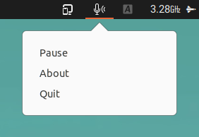 Hushboard mute microphone when typing Linux