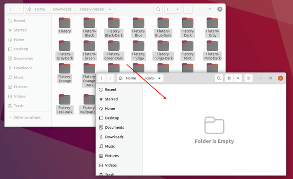 Flatery – A nifty flat style icon theme for Linux