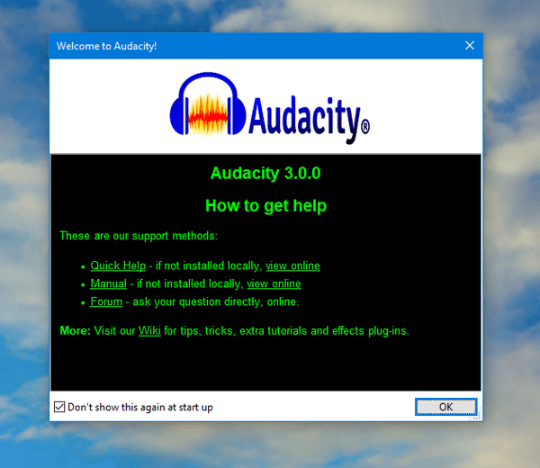 Audacity 3.0.0 has been released!Save your project in a single .aup3 file