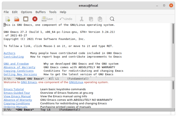 GNU Emacs 27.2 has been released! How to install on Ubuntu