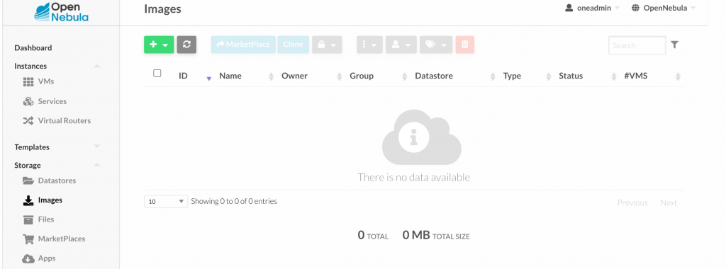 Upload centos opennebula picture 01