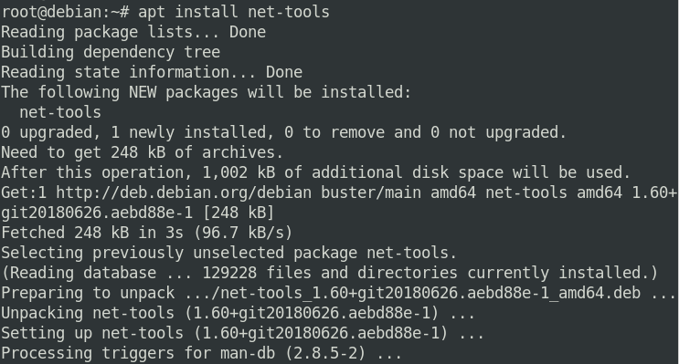 Using ifconfig