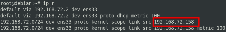 Using the ip route command