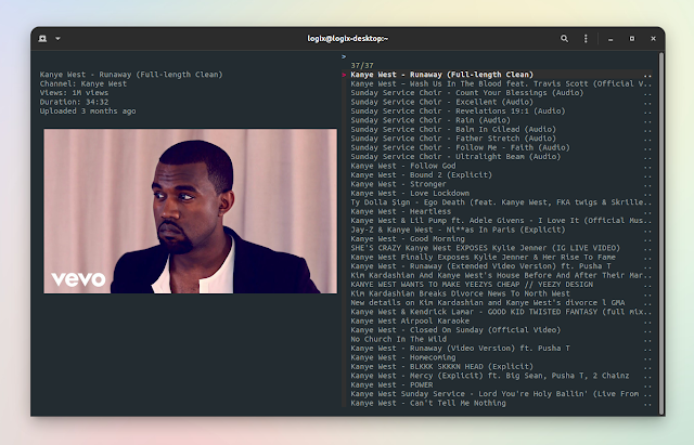 ytfzf-search and play youtube with thumbnails from the command line