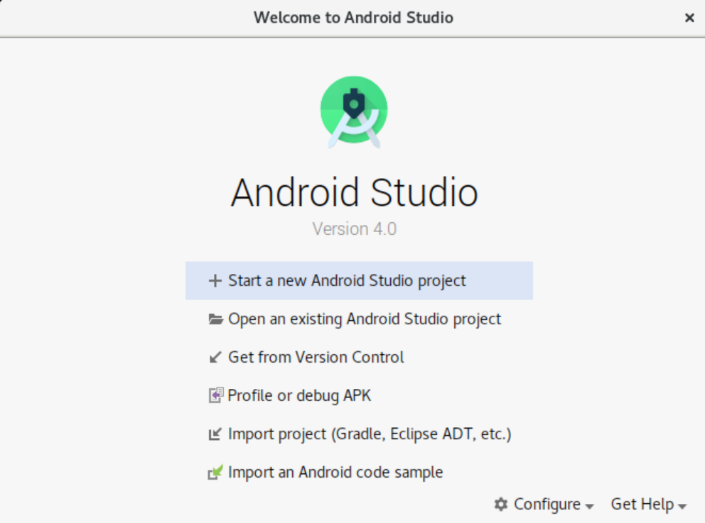 Android Studio installation completed successfully