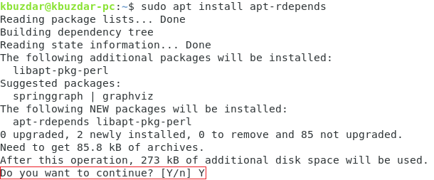 Confirm package installation
