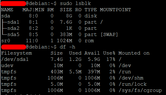 Extend the root partition (ext4, not LVM) of a disk in Debian 2