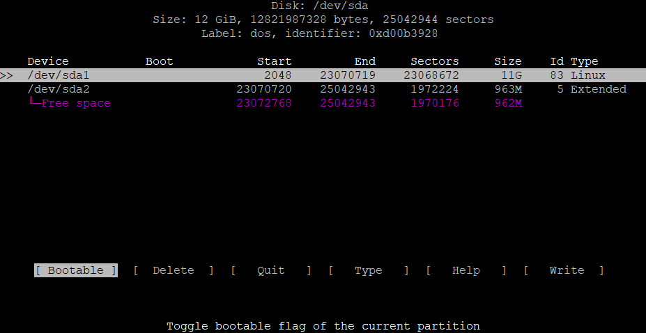 Extend the root partition (ext4, not LVM) of a disk in Debian 7