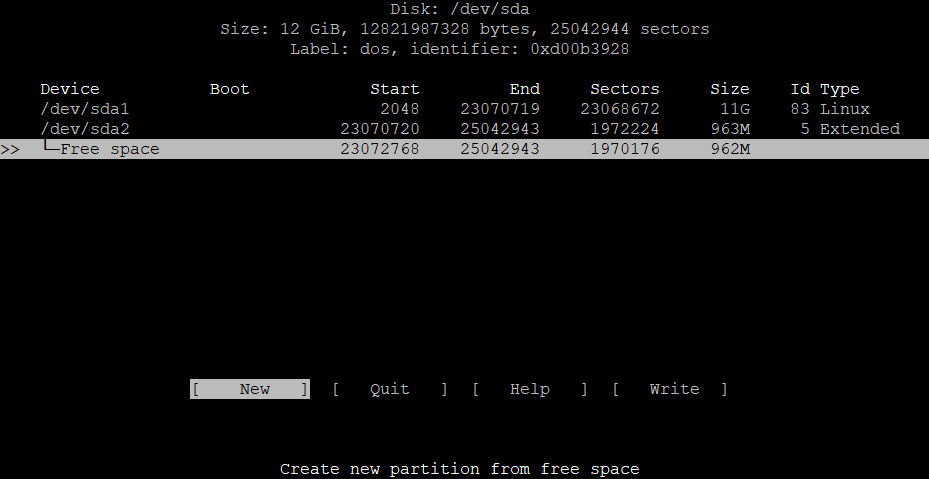 Extend the root partition (ext4, not LVM) of a disk in Debian 8