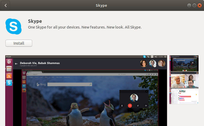 Click on Skype entry