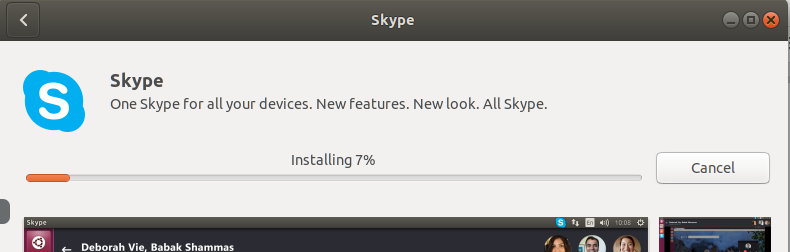 Skype is installed on the system